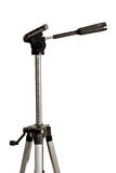 Tripod. Photo tripod on a white background matt silver with black plastic parts Royalty Free Stock Photography
