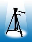 Tripod. Illustration of Camera Tripod with focus light Stock Photo