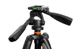 Tripod. Black tripod isolated on white background Stock Photos