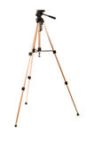 Tripod camera isolated Royalty Free Stock Photos
