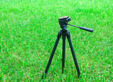 Tripod for the camera on natural background Royalty Free Stock Images