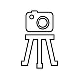 Tripod camera photographic icolated icon design Royalty Free Stock Photo