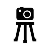 Tripod camera photographic icolated icon design Stock Image
