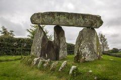 The dolmen. A Tripod Dolmen in north ireland Royalty Free Stock Photo