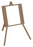 Tripod easel with a blank sheet of paper on the buttons Royalty Free Stock Image