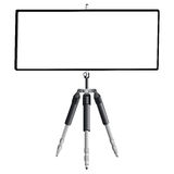 Tripod and empty banner Royalty Free Stock Images