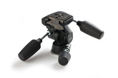 Tripod head. On white background Stock Photography