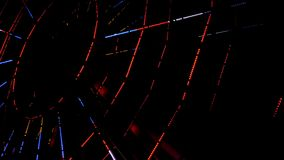 Ferris wheel illuminated at night 4k stock video