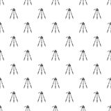 Tripod pattern. Seamless repeat in cartoon style vector illustration Royalty Free Stock Images