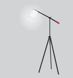 Tripod podłogowa lampa Obraz Stock