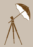 Tripod silhouette Royalty Free Stock Photos