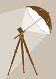 Tripod silhouette Stock Images