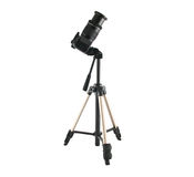 Tripod for video and photo shoot with a camera Stock Images