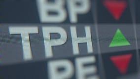 TRIpointe-ticker van de GROEPStph voorraad Redactie loopable animatie stock video