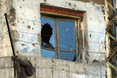 Tripoli Lebanon conflict. After action images from combat in Tripoli, North Lebanon Stock Photography