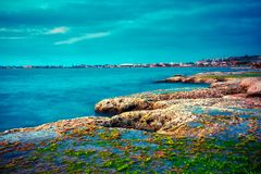 Tripoli, Lebanon. Scenic landscape of sea coast Tripoli, Lebanon Stock Image
