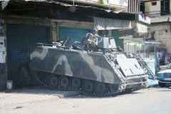 Tripoli Libanon konflikt Royaltyfri Bild