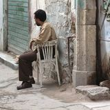 Man in the street. Tripoli, Lybia - May 28, 2002: Man in the streets of Tripoli Stock Images