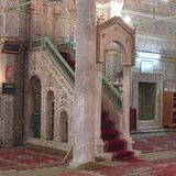 View of a mosque interior. Tripoli, Lybia - May 02, 2002: Mosque interior in Tripoli Royalty Free Stock Photo
