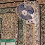 View of a mosque interior. Tripoli, Lybia - May 02, 2002: Mosque interior in Tripoli Stock Images