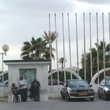 Taxi men waiting. Tripoli, Lybia - May 02, 2002: Taxi men waiting for clients Royalty Free Stock Photos