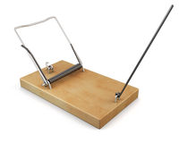 Tripped mousetrap. 3d. Royalty Free Stock Photography