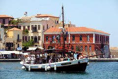 Trippers sail from Chania Stock Photography