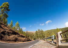 Tripping Tenerife. Road through the mountains of Tenerife Royalty Free Stock Images