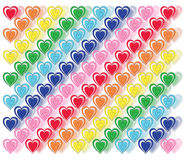 Tripple Heart Pattern Royalty Free Stock Photos