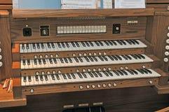 Tripple Keyboard. Image ual organ keyboardof a 3 man Stock Photography