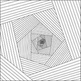 Trippy abstrakte Illustrationslinien 3d-Muster lizenzfreie stockbilder