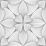 Trippy abstrakte Illustrationslinien 3d-Muster lizenzfreies stockfoto