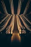 Trippy rulltrappa Arkivfoto