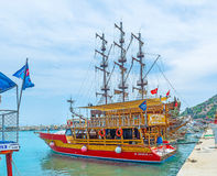 Trips from old port of Alanya Stock Photography