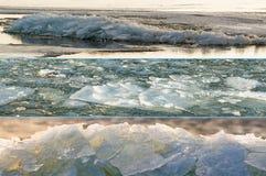 triptych льда floes Стоковые Изображения RF