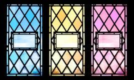 Stained glass three ways stock photo