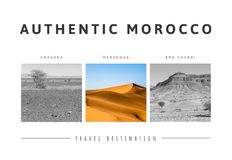 Triptych of beautiful landscapes of the Moroccan desert. Adventure concept. Postcard concept royalty free stock image