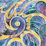 Triptych Chinese dragon wing set colorful drawn. Triptych Chinese dragon wing colorful drawn stock illustration