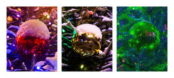 Triptych - Christmas Decoration Royalty Free Stock Photo