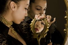 *Triptych con mirrors* Immagini Stock Libere da Diritti