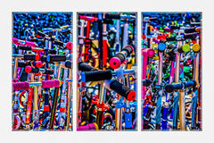 Triptych - High Time To Buy A Scooter Royalty Free Stock Photo