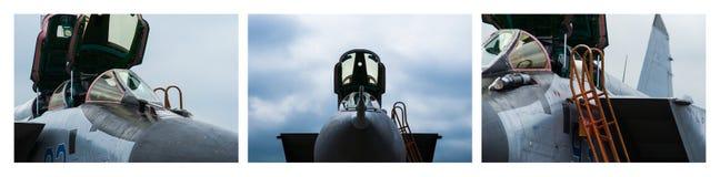 Triptych - MiG-31 Interceptor Stock Photography