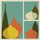 Triptych Of Vases Royalty Free Stock Photo