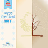 Triptych scene Happy New Year and Happy Holidays text. Royalty Free Stock Photography