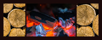 Triptych Warming Up Royalty Free Stock Photos