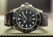 Tripulante de submarino de Rolex con resplandor del superluminova Imagen de archivo libre de regalías
