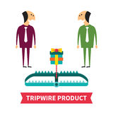 Tripwire product vector concept in flat style Royalty Free Stock Photo