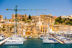 Triq Marina in Kalkara of Malta. Picturesque view on Triq Marina port in Kalkara of Malta Royalty Free Stock Image