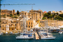 Triq Marina in Kalkara of Malta. Picturesque view on Triq Marina port in Kalkara of Malta Royalty Free Stock Photo