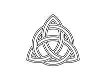 Triquetra Nudo de la trinidad Símbolo céltico de la eternidad Vector libre illustration